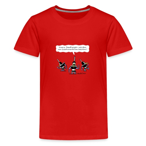 elektronenhirne - Teenager Premium T-Shirt