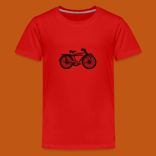 Beach Cruiser Fahrrad 01_schwarz - Teenager Premium T-Shirt