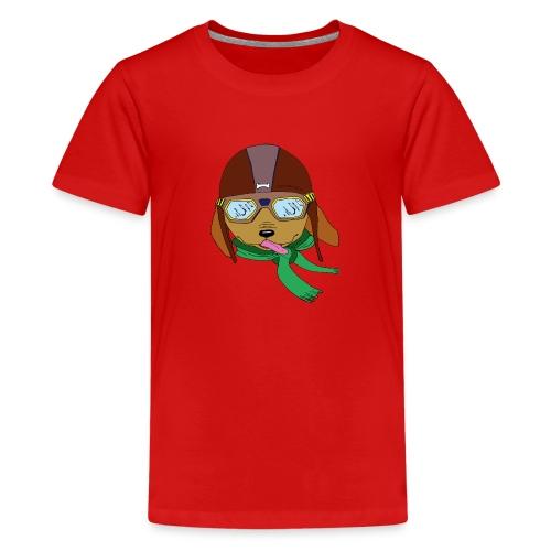 Falc le chien aviateur - T-shirt Premium Ado