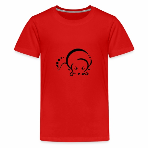Otter, Tribal Design - Teenage Premium T-Shirt