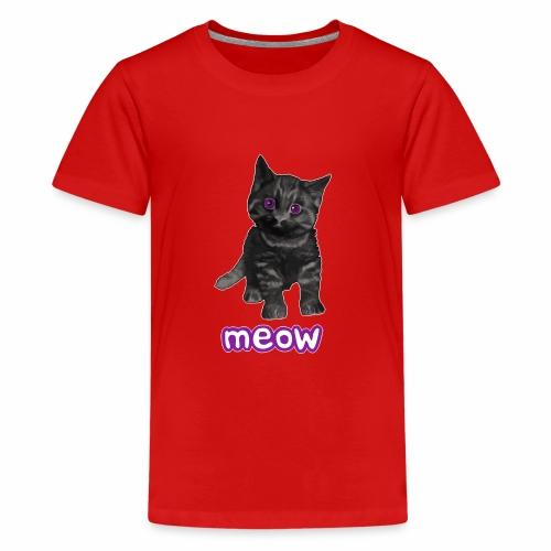 Katze Schwarz - Teenager Premium T-Shirt