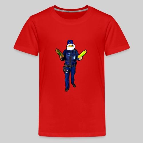 Poliisi-Ankka - Teinien premium t-paita