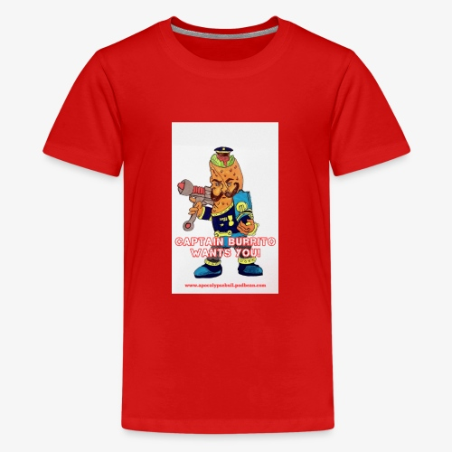 Captain Burrito - Teenage Premium T-Shirt