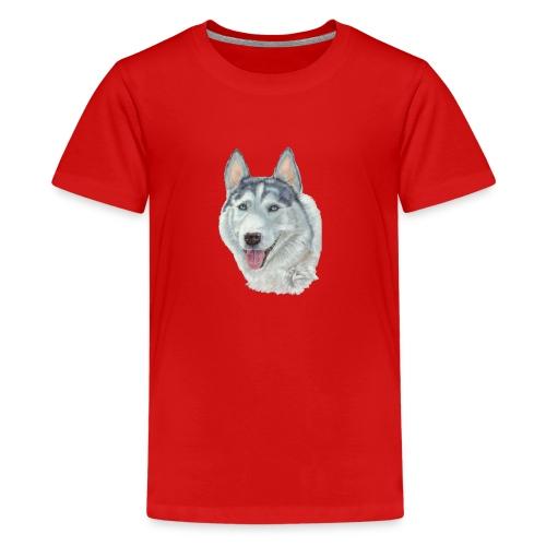 siberian husky_blueeyes - Teenager premium T-shirt