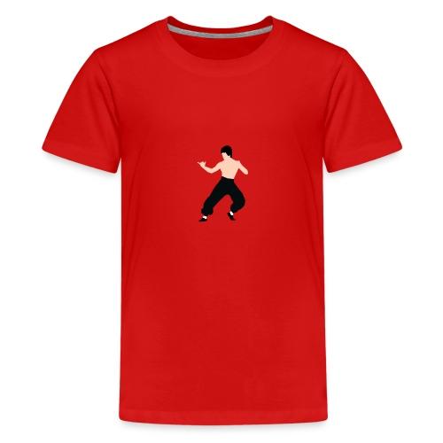 Bruce lee Kampf Pose - Teenager Premium T-Shirt