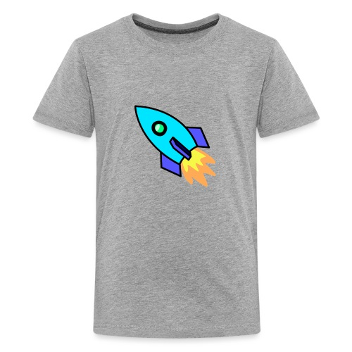 Blue rocket - Teenage Premium T-Shirt