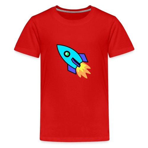Blue rocket - Teenage Premium T-Shirt