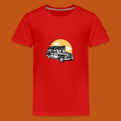 Chevy Cadilac Woodie / Oldtimer Kombi 01_3c - Teenager Premium T-Shirt