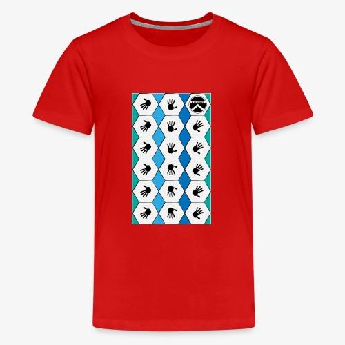 |K·CLOTHES| HEXAGON ESSENCE BLUES & WHITE - Camiseta premium adolescente