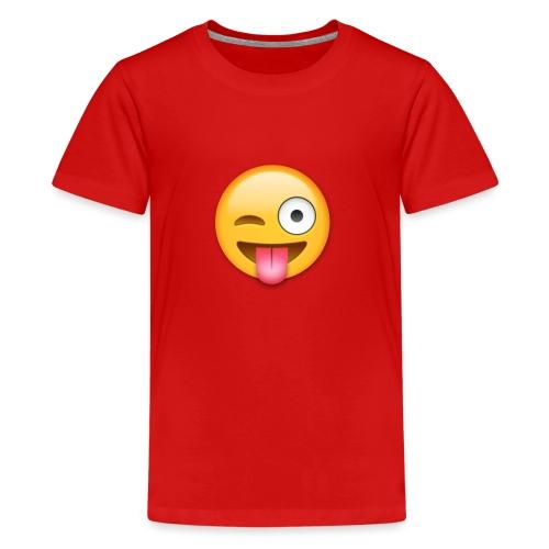 Winking Face - Teenager Premium T-Shirt