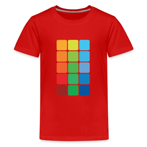 Square color - Teenage Premium T-Shirt