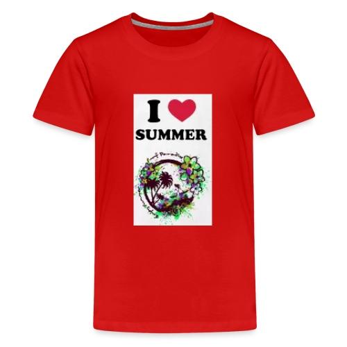 I love summer - Maglietta Premium per ragazzi