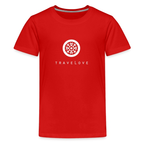 traveLove weißer Aufdruck - Teenager Premium T-Shirt