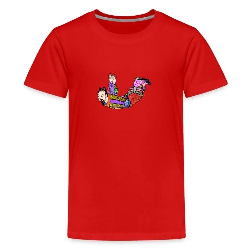 Chinese woodcut Qigong exercise - Teenage Premium T-Shirt