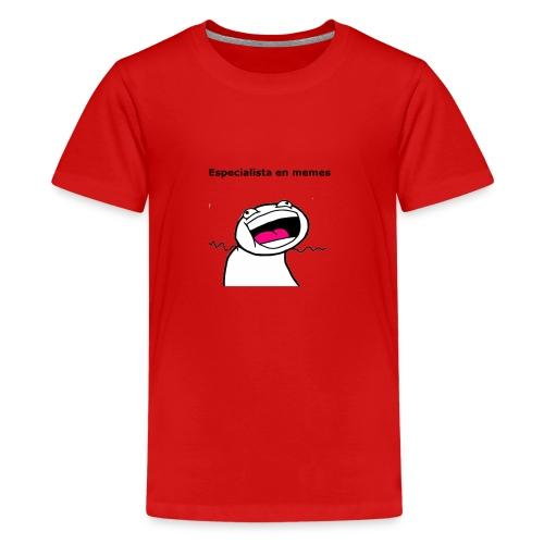 Especialista en memes - Camiseta premium adolescente