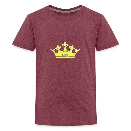 Team King Crown - Teenage Premium T-Shirt