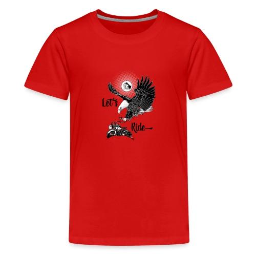Baldeagle met een panhead - Teenager Premium T-shirt