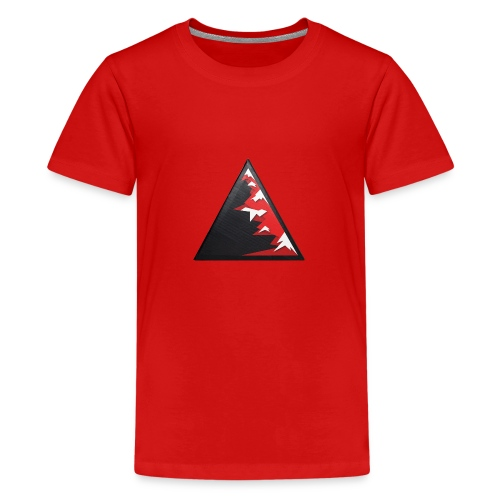 Climb high as a mountains to achieve high - Teenage Premium T-Shirt