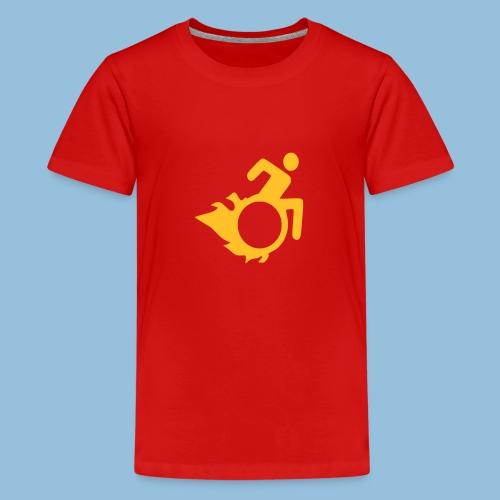 Roller met vlammen 004 - Teenager Premium T-shirt