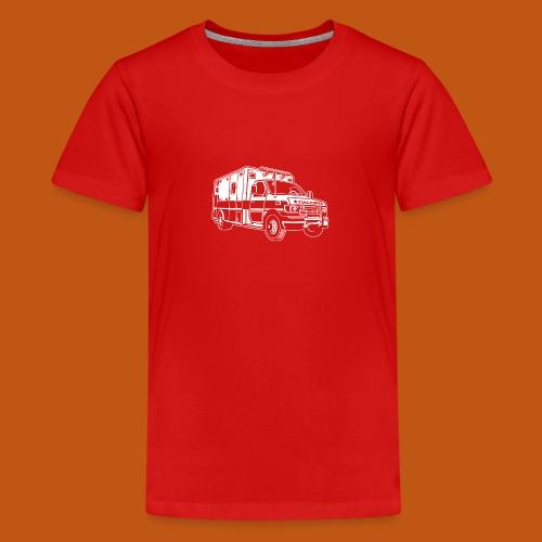 Krankenwagen / Rettungswagen 01_weiß - Teenager Premium T-Shirt