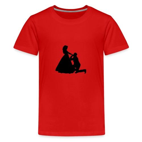 Kniender Mann vor Frau Prinzessin - Teenager Premium T-Shirt