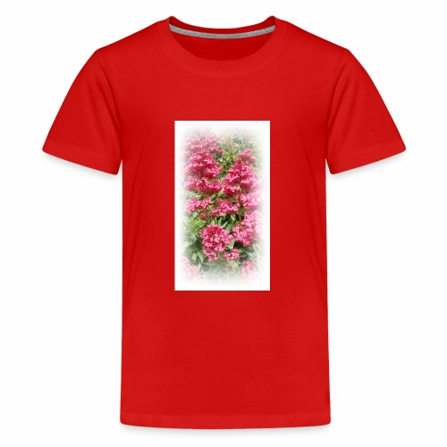Red Flower - Teenage Premium T-Shirt