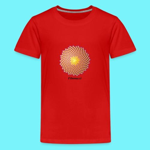 Fibonacci flower - Teenage Premium T-Shirt