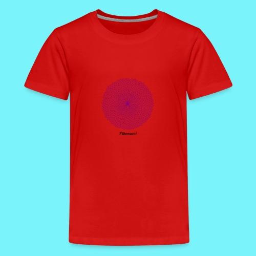 Fibonacci webs in purple - Teenage Premium T-Shirt