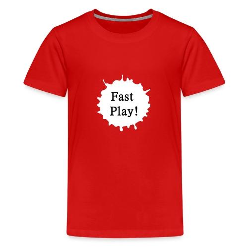 Fast play weiß - Teenager Premium T-Shirt