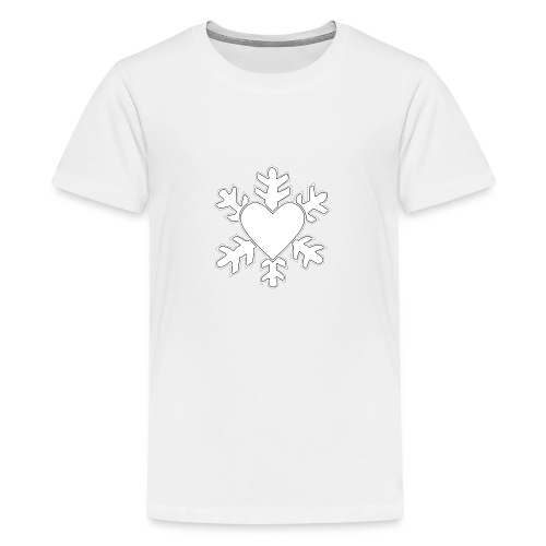 Flocon coeur 3D - T-shirt Premium Ado