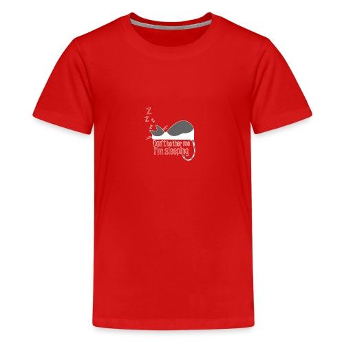 Sleeping cat gray white - Teenage Premium T-Shirt