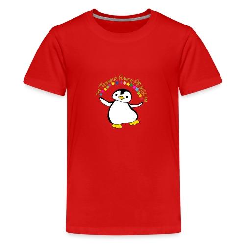 Pinguin Flower Power - Teenager Premium T-Shirt