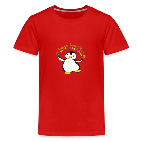 Pinguin Flower Power - Teenager Premium T-Shirt
