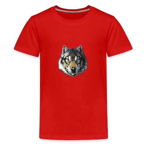 wolf - Teenager premium T-shirt