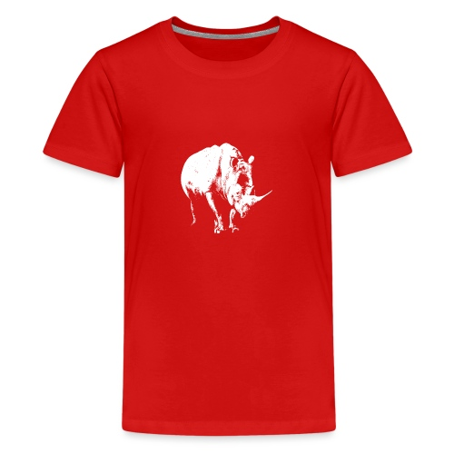 White Rhinoceros (highlights only) - Teenage Premium T-Shirt