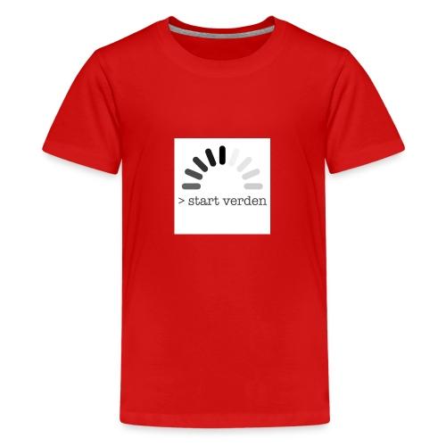 Start Verden - Premium T-skjorte for tenåringer