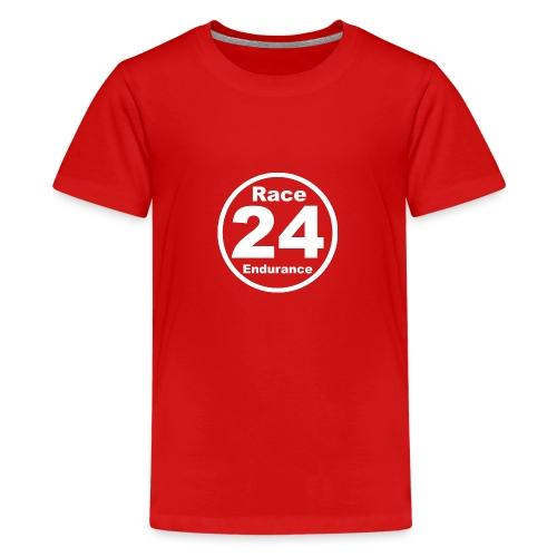 Race24 round logo white - Teenage Premium T-Shirt