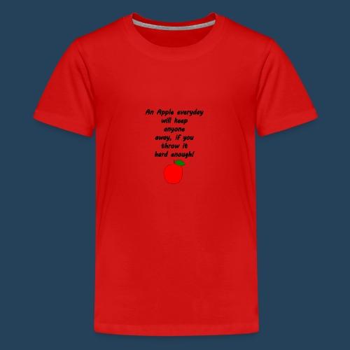 Lustiger Apfelspruch - Teenager Premium T-Shirt