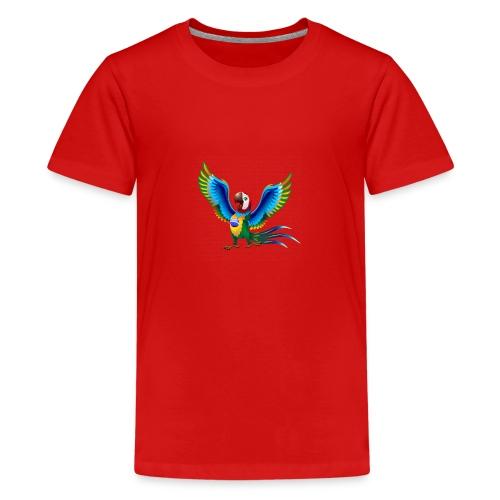 Brazil Flag Papagei - Teenager Premium T-Shirt