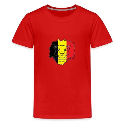 Lion supporter Belgique - T-shirt Premium Ado