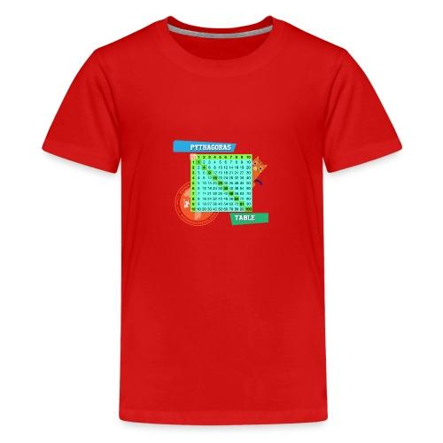 Pythagoras table - Premium T-skjorte for tenåringer