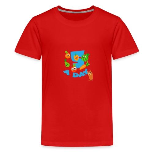 Duna five a day - Premium T-skjorte for tenåringer