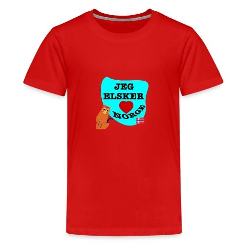 Jeg elsker Norge - Premium T-skjorte for tenåringer
