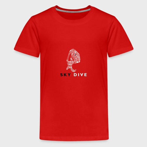 Skydive Triangle - Teenager Premium T-Shirt