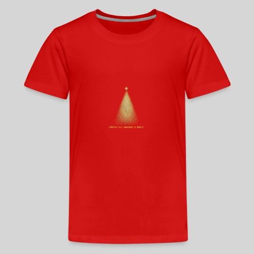 Christus Jesus unser Erretter ist geboren - Teenager Premium T-Shirt