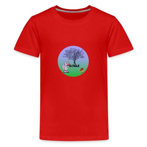 Schaf Kohle - Teenager Premium T-Shirt