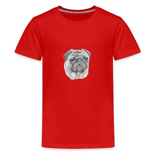 Pug - mops 1 - Teenager premium T-shirt