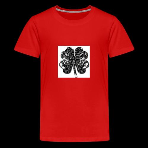 Czterolistna konczynka - Koszulka młodzieżowa Premium