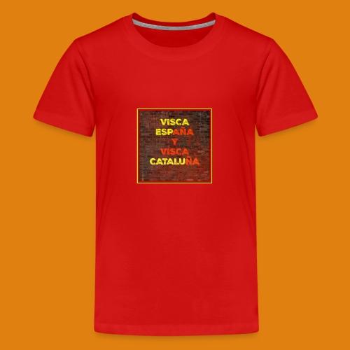 SPAIN AND CATALONIA - Teenage Premium T-Shirt