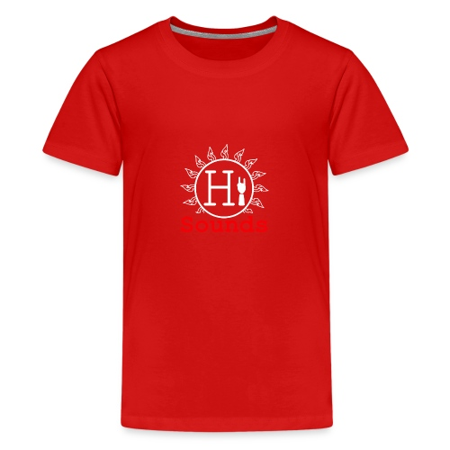 Logo Hi-Sounds Quadrat weiss - Teenager Premium T-Shirt